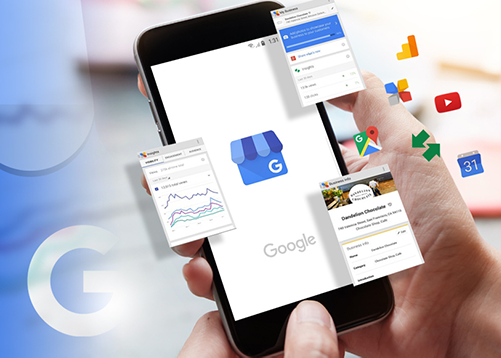 google my business management small business